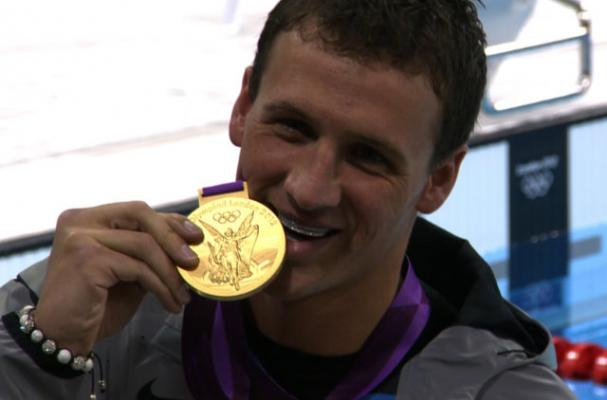 Ryan Lochte Eats Gold