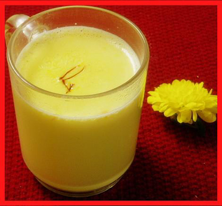 Delicious and healthy saffron milk