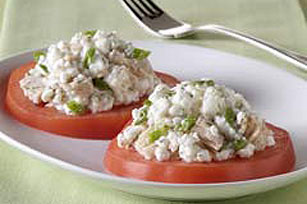 Cottage cheese with tuna