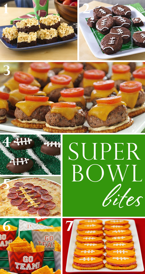 Super Bowl themed party foods
