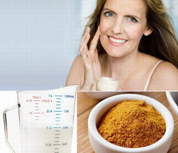 Turmeric milk helps cure skin problems