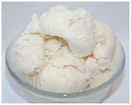 Home made vanilla ice cream