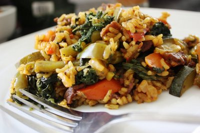 Spring Vegetable Paella picture