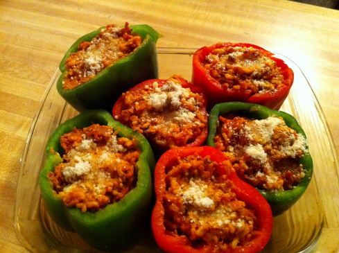 Bolognese Stuffed Bell Peppers picture