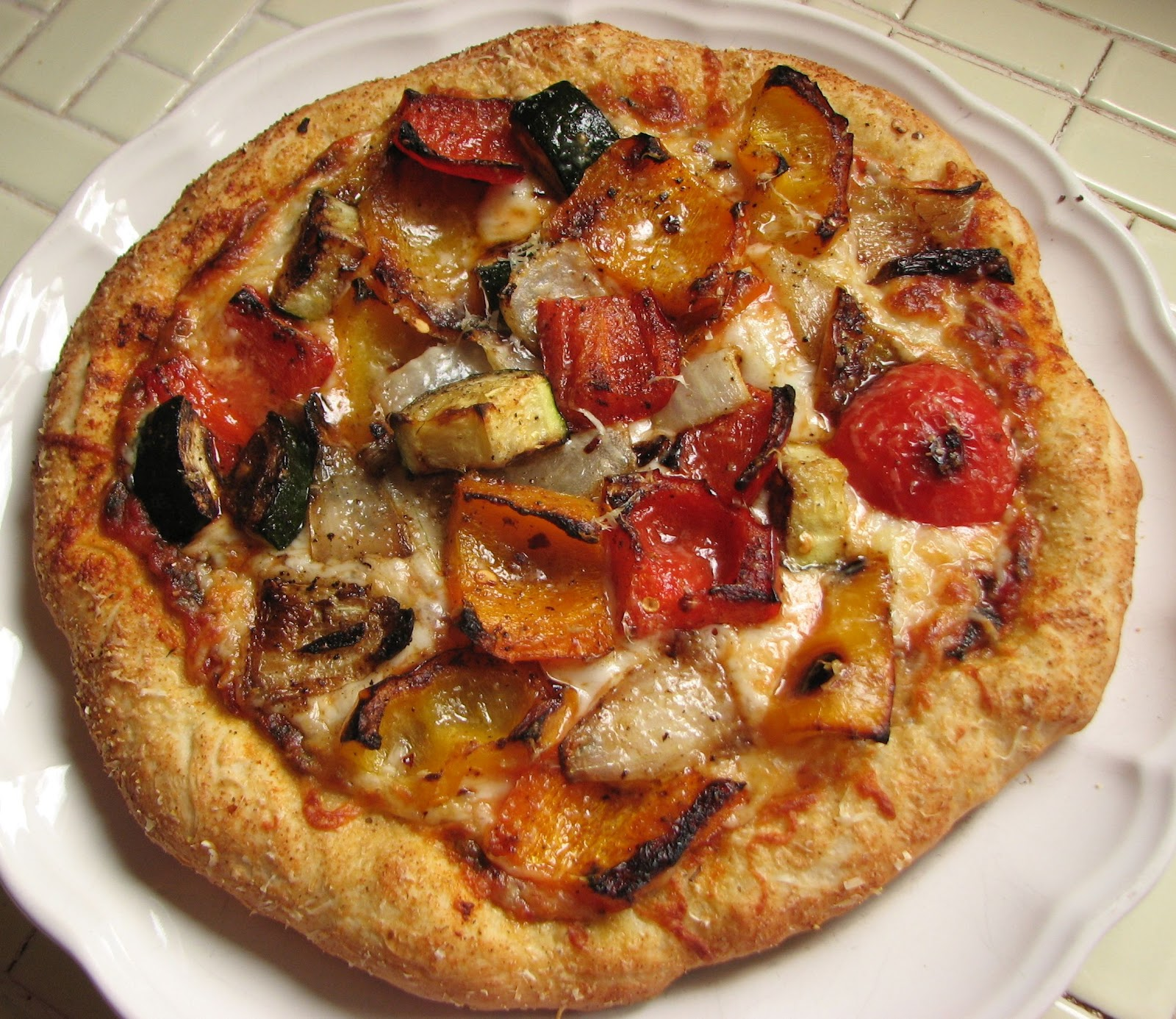 Roasted-Vegetable Pizza picture