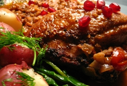 Jewish Honey Roasted Pomegranate Chicken picture