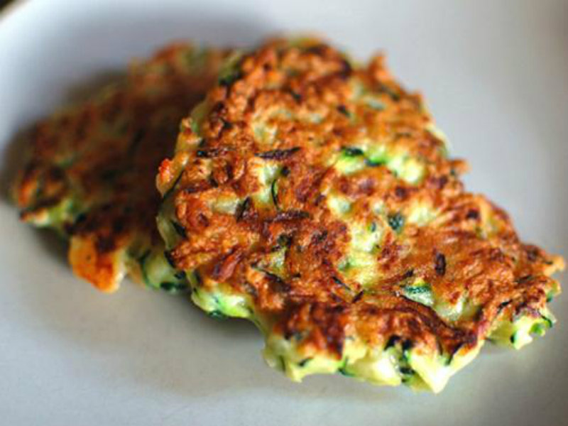 Cottage Cheese Spring Onion and Chive Fritters picture