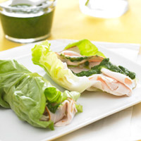 Turkey-Pesto Lettuce Roll-Ups picture