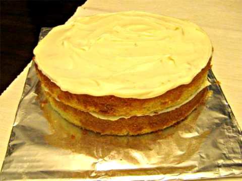 Lemon-Cream Sherbet Cake picture