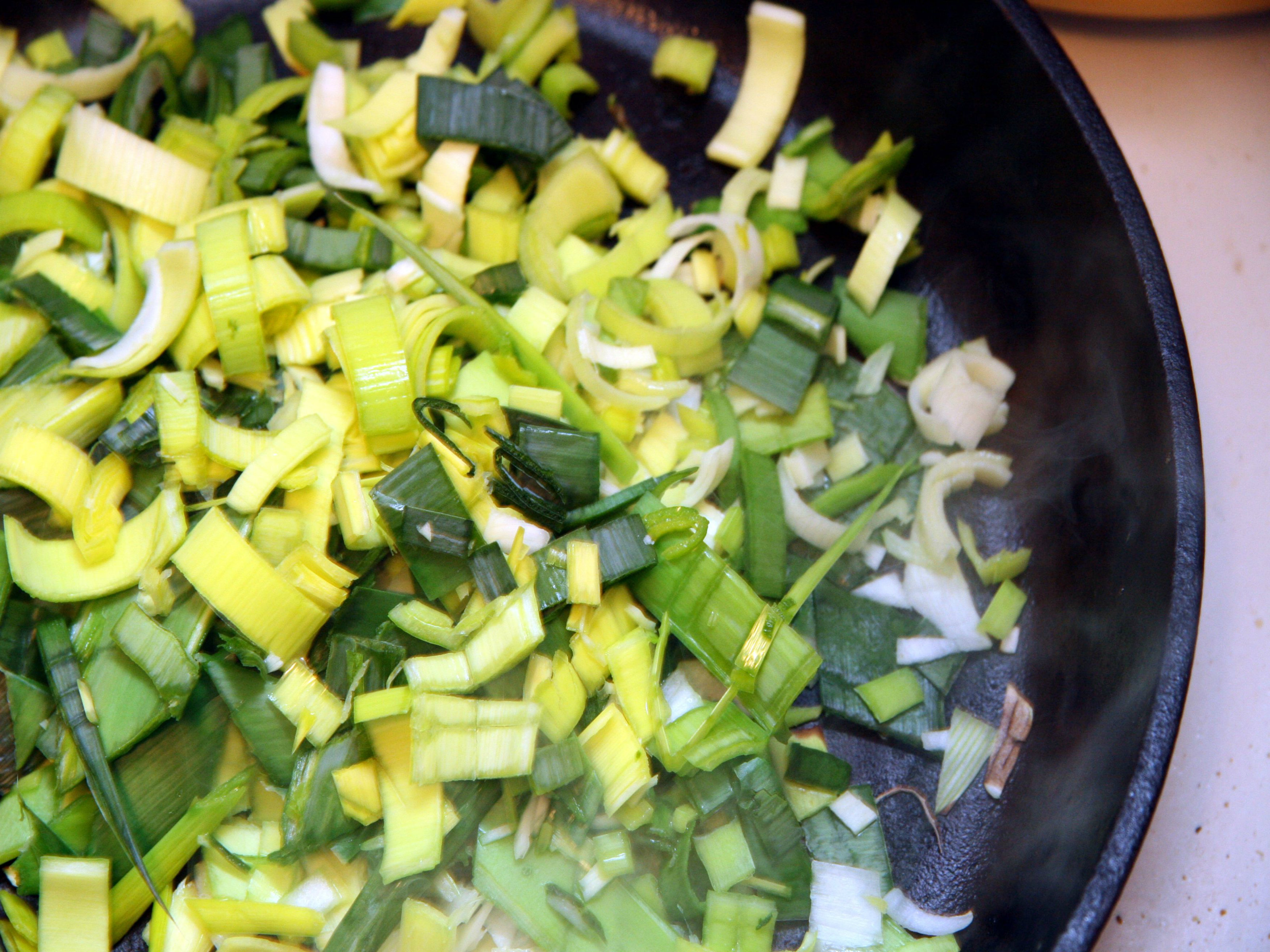 Leek And Cream Filling For Omelette picture