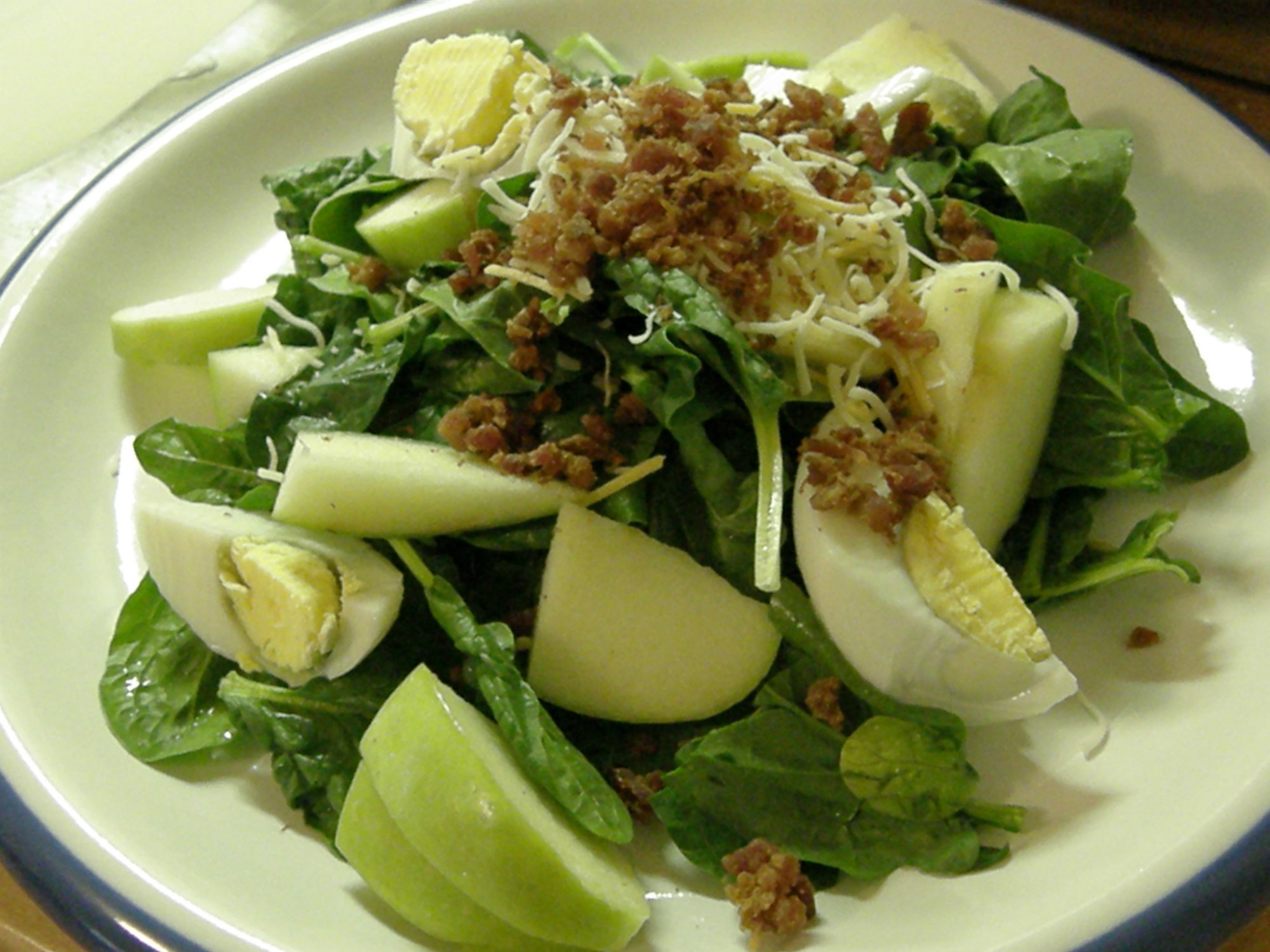 Lemon And Bacon Spinach Salad picture