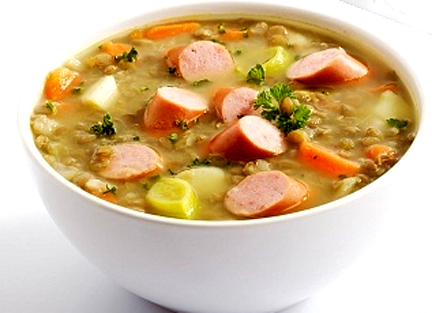 Lentil Soup with Frankfurters picture