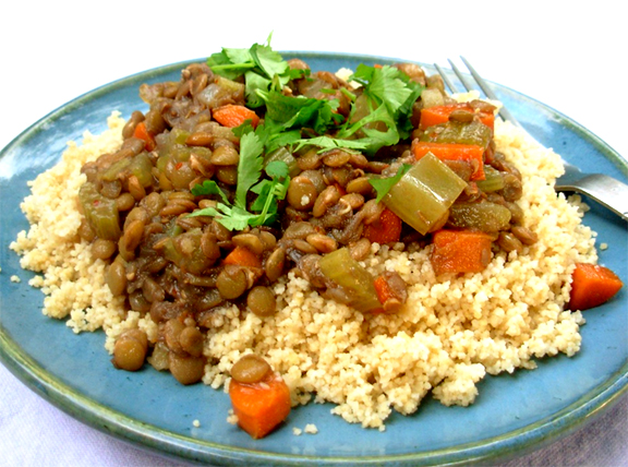 Lentil Stew Over Couscous picture
