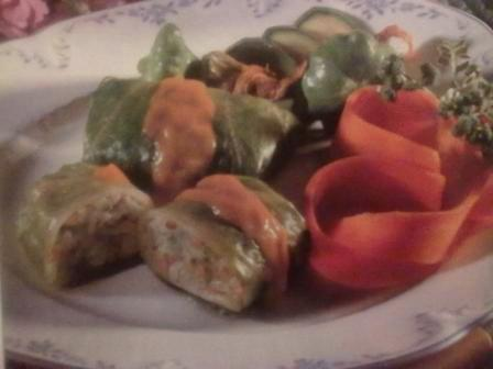 Lettuce Parcels with Carrot Sauce picture
