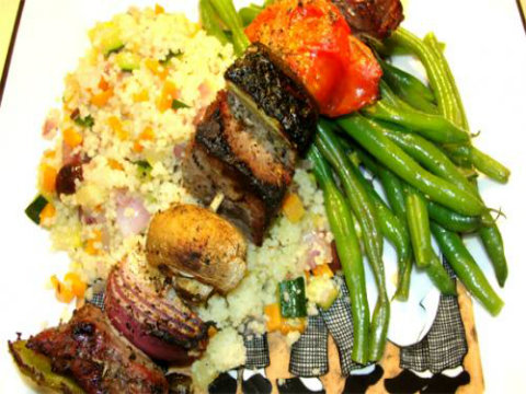 Liver Kabobs with Rice picture
