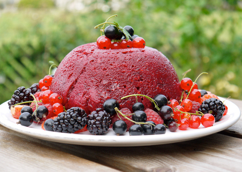 Low Fat Berry Pudding picture