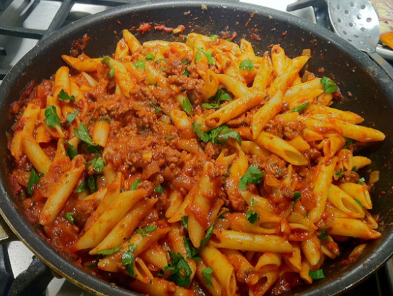 Emergency Pasta with Minced Beef picture