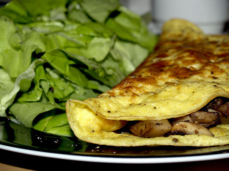 Omelette With Spanish Mushroom Filling picture