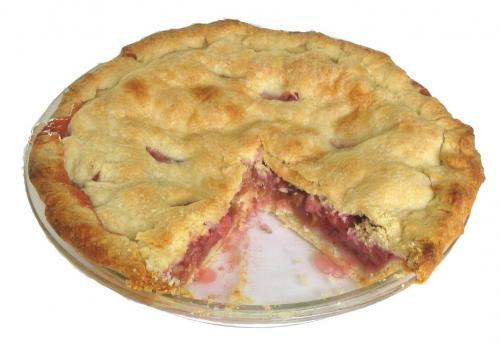 Orange Blossom Rhubarb Pie picture