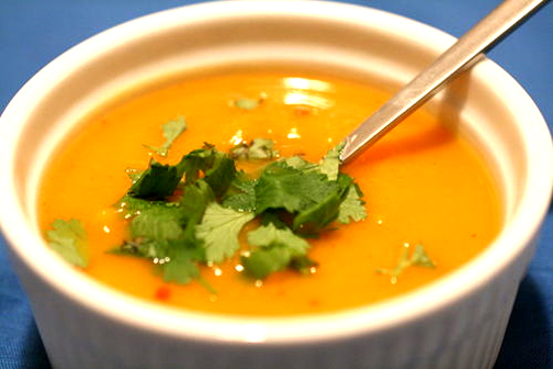 Fall's Orange Kumara Carrot and Lenil Soup  picture