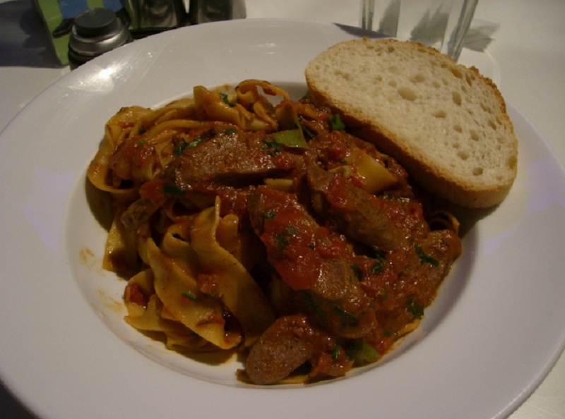 Pappardelle with Lamb's Liver and Bacon picture