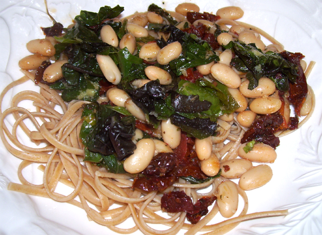 Pasta With Beans And Sun Dried Tomatoes picture