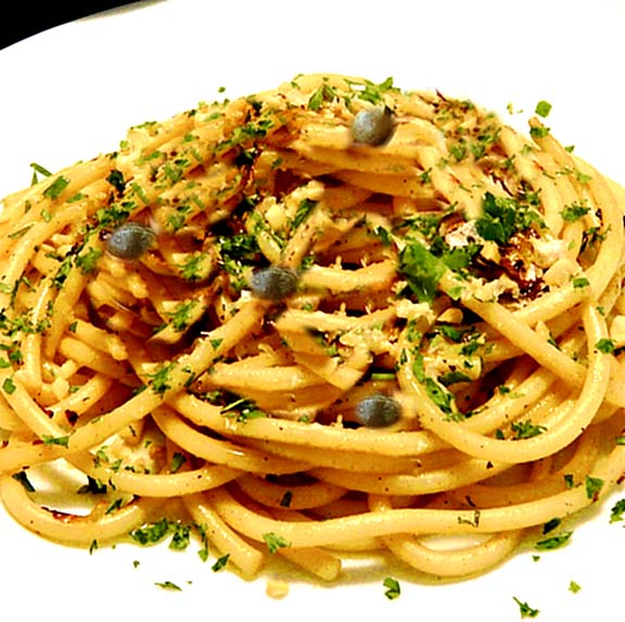 Pasta With Garlic, Capers, And Herbs picture