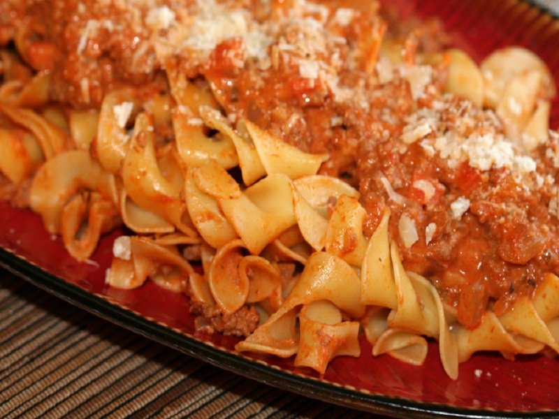 Pasta with Sweet and Sour Ground Pork picture