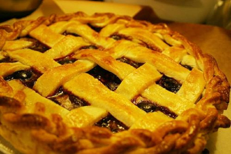 Peach Cranberry Pie picture