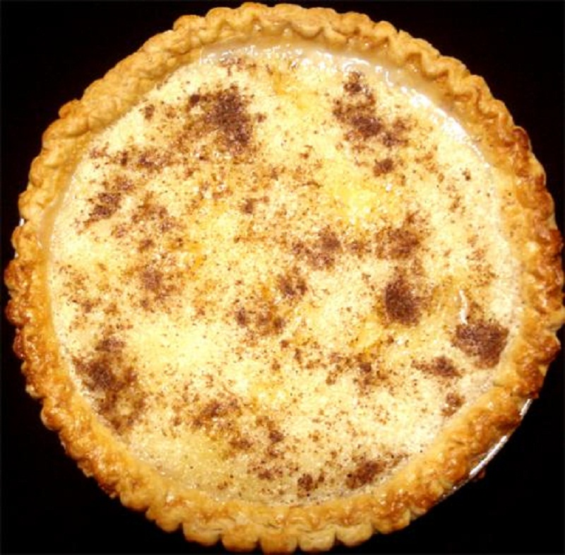 Peach Pineapple Custard Pie picture