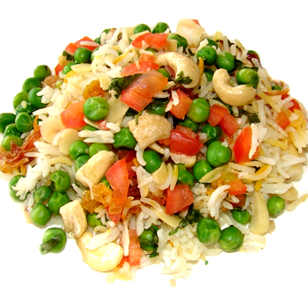 simple peas pulav picture