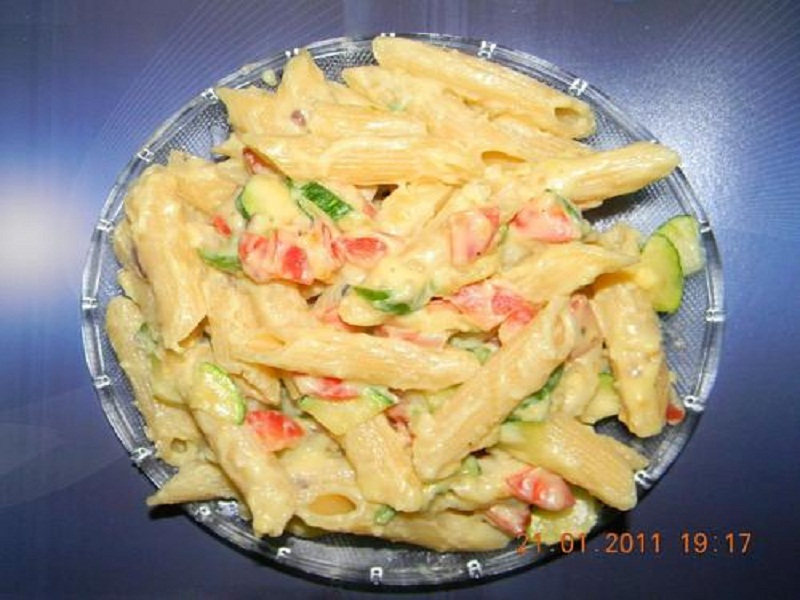 Penne Primavera With Sun-Dried Tomato Sauce picture