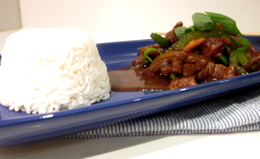 Pepper Steak With Rice picture