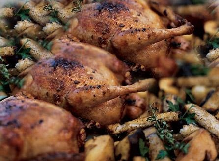 Peppered Poussins with Lime and Sage Crumbs picture