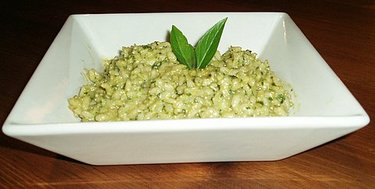 Pesto risotto picture