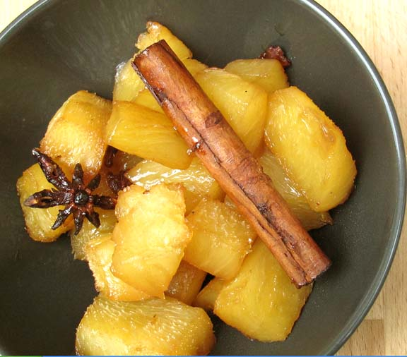 Pineapple In Brown Sugar Rum Syrup picture