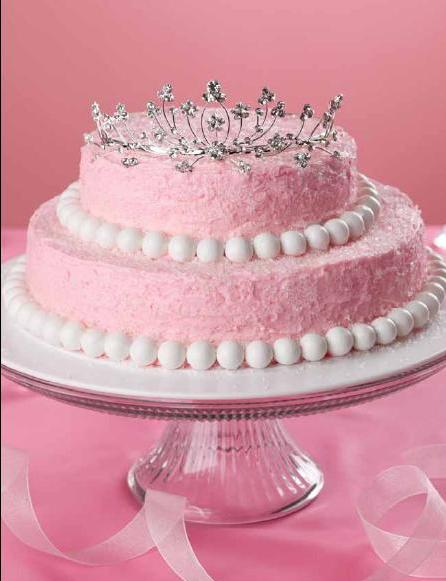 Pink Princess Crown Cake picture
