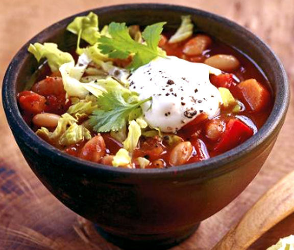 Spicy Pinto Beans With Olives picture