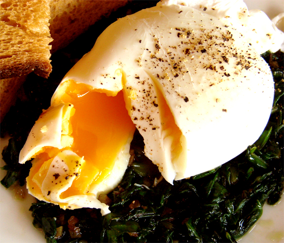 Poached Eggs and Spinach picture