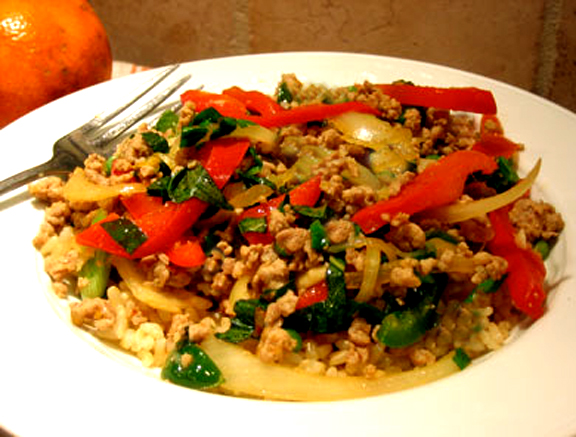 Spicy Tomato Pork Stir Fry picture