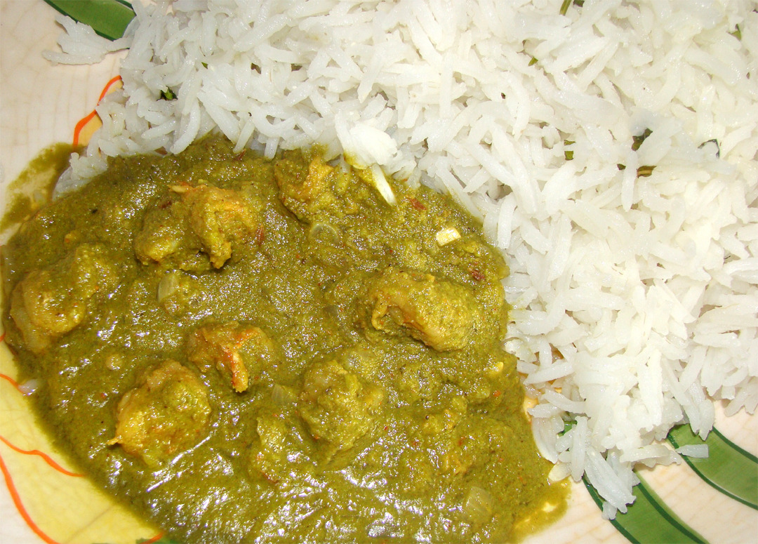 Prawn Green Curry / Shrimp Green Curry picture