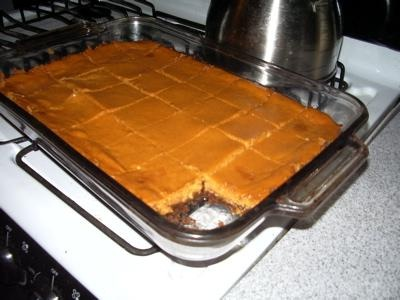 Pumpkin Brownie Bars picture