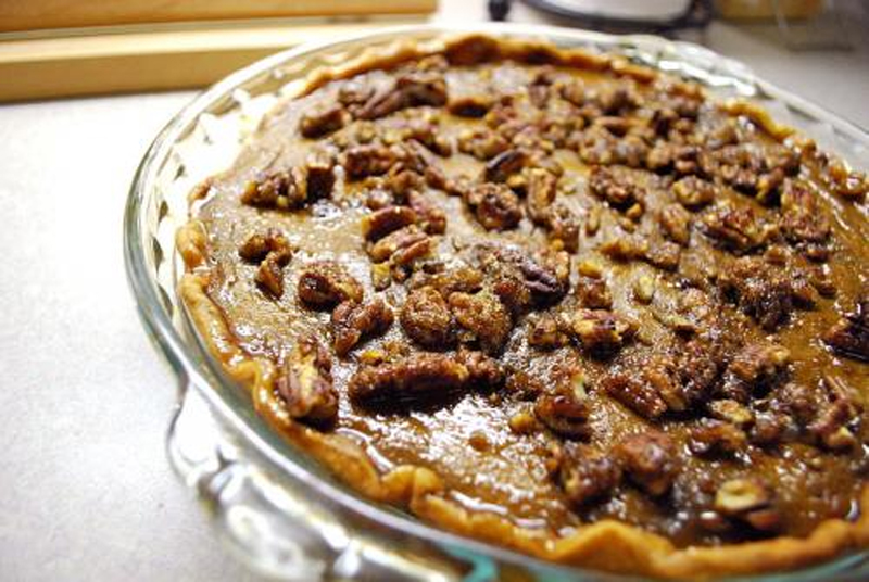 Pumpkin Pecan Pie picture