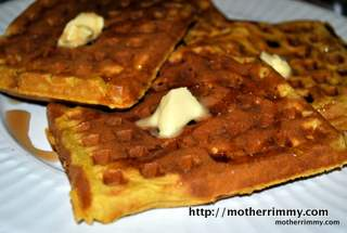 Light and Healthy Pumpkin and Orange Waffles picture