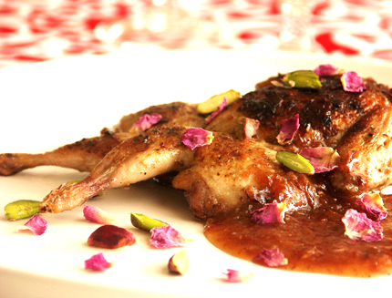 Quail In Rose Petal Sauce picture