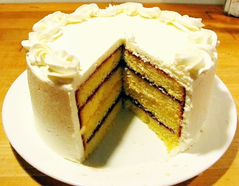 Lemon Raspberry Cake picture