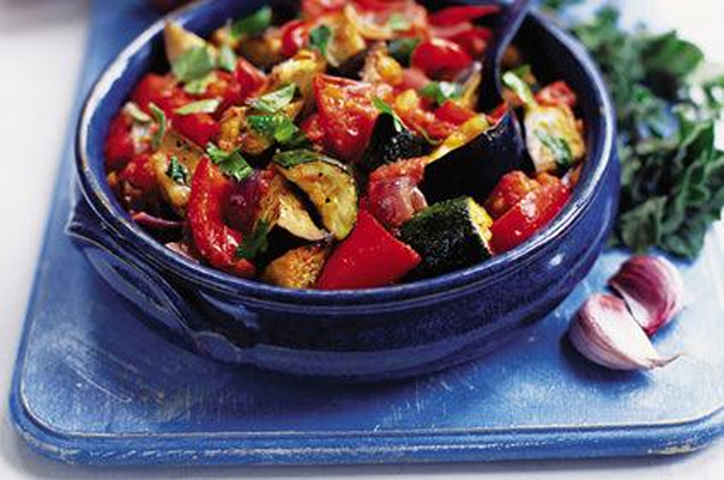 Ligurian Ratatouille with Black Olives and Toasted Pine Nuts picture