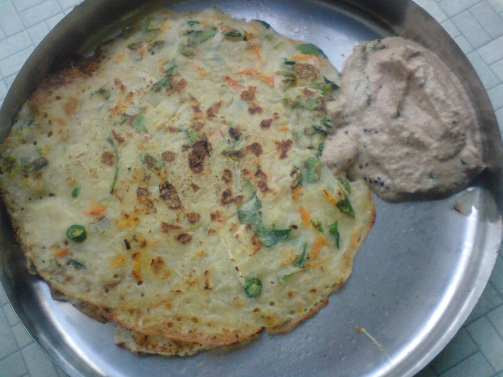 Rava Dosa and Peanut Chutney picture