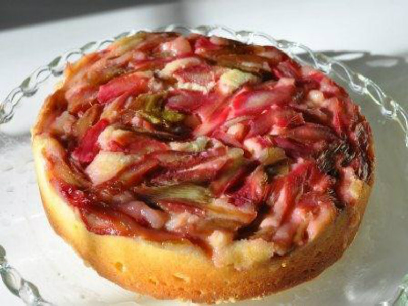 Rhubarb Upside-Down Cake picture