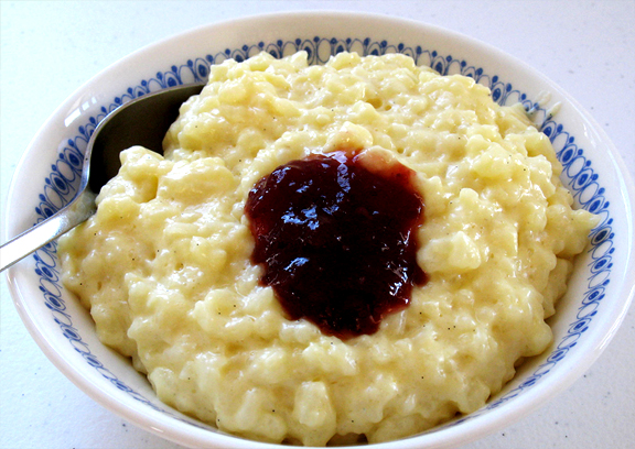Rice Pudding Mould With Cranberry Rum Sauce picture